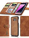 For Samsung Galaxy S7 Edge S7 Case Wallet Genuine Leather Case Solid Color