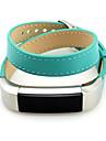 Vermelho / Preta / Verde / Azul / Marrom / Rosa Couro Fecho Classico Para Fitbit Assistir 10mm