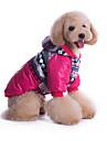 Kutyák Kapucnis felsőrész Kék / Rózsa Kutyaruházat Tél / Tavasz/Ősz Britsh Casual/hétköznapi / Vjetronepropusnost