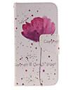 Pour Portefeuille Porte Carte Avec Support Clapet Motif Coque Coque Integrale Coque Fleur Dur Cuir PU pour Samsung J3 J3 (2016)