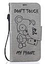 Для samsung galaxy s7 s6 край winnie модель pu кожаный материал тиснение мобильный телефон кобура