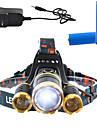 Belysning Hodelykter LED 3000 Lumens Lumens 4.0 Modus Cree T6 18650 Mulighet for demping / Oppladbar / Lygtehoved / Super Lett