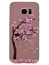 For Samsung Galaxy S8 Plus S6 Cherry Tree Pattern TPU High Purity Translucent Soft Phone Case S7 S6 edge S5 S4 S3 S8