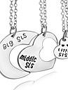 Ожерелье Без камня Ожерелья с подвесками Бижутерия Для вечеринок Повседневные В форме сердцаУникальный дизайн Сердце Первоначальные