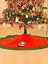 natal decoracoes para 90 centimetros casa borda reta nao-tecidos saia da arvore de Natal aventais