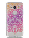 For Samsung Galaxy J7 J5 Lace Flowers Pattern High Permeability TPU Material Phone Case