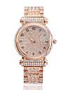 아가씨들 패션 시계 팔찌 시계 캐쥬얼 시계 석영 방수 라인석 스테인레스 스틸 밴드 스파클 캐쥬얼 골드