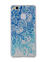 For Huawei Y635 4C 4X 5C 5X P8 P9 P8Lite P9Lite Honor8 Honor7 Honor6 Case Cover Blue and White  Painted Pattern TPU Material Phone Case