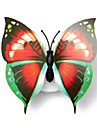 3PCS Lovely Creative Color Changing ABS Butterfly LED Night Lights Lamp Beautiful Home Decorative Wall Nightlights(Style random)