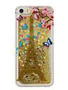 Para Liquido Flutuante / Estampada Capinha Capa Traseira Capinha Torre Eiffel Macia TPU para AppleiPhone 7 Plus / iPhone 7 / iPhone 6s