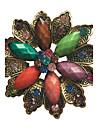 alliage de mode / strass / broches de fleurs en resine Broche partie des femmes / jour / casual clips echarpe bijoux accessoire 1pc