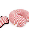 Travel Eye Mask / Sleep Mask Travel Pillow for Kid\'s Unisex Travel Rest Fabric-Purple Coffee Green Blue Blushing Pink