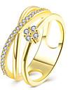 Кольцо Цирконий Позолота Имитация Алмазный Мода Золотой Розовый Бижутерия Halloween Повседневные 1шт