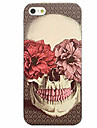 Para Estampada Capinha Capa Traseira Capinha Caveira Macia TPU para AppleiPhone 7 Plus / iPhone 7 / iPhone 6s Plus/6 Plus / iPhone 6s/6 /