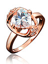 Ring AAA Cubic Zirconia Gold Plated 18K gold White Red Blue Jewelry Wedding Party Daily Casual 1pc