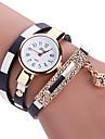 Femme Enfant Montre Tendance Montre Bracelet Bracelet de Montre Quartz Colore Polyurethane Banderetro Boheme Charme Bracelet Pour tous