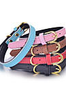Cat / Dog Collar Adjustable/Retractable / Studded Rhinestone / Characters Red / Black / White / Blue / Pink / Gold / Rose PU Leather