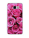 For Samsung Galaxy A8(2016) A8 A7 A5 A3 A510 A310 Case Cover Red Rose Painted Pattern TPU Material Phone Case