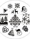 ongle art image de timbre plaque d\'estampage modele serie ap 25 de style