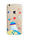 Pour Coque iPhone 7 Coque iPhone 6 Coque iPhone 5 Translucide Motif Coque Coque Arriere Coque Dessin Anime Flexible PUT pour AppleiPhone