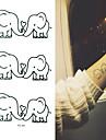 1 Tattoo Stickers Animal SeriesBaby / Child / Women / Men Flash Tattoo Temporary Tattoos
