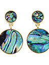 Ehnic Colorful Imiation Gemstone Round Shape Earrings