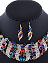 Women\'s Jewelry Set Earrings Statement Necklaces Luxury Costume Jewelry Gemstone Rhinestone Rose Gold Plated Imitation Diamond Alloy