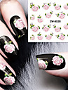 Fashion Printing Pattern Flower Transfer Printing Nail Stickers