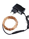 Christmas lights 3 Colors 10m 100 LED Copper Wire LED String Light Starry LightsPower Adapter (UKUSEUAU Plug) holiday lights