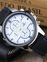 Men\'s Sport Watch Dress Watch Wrist watch Keychain Watch Quartz Silicone Band Cool Casual Black White Blue