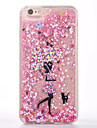용 플로잉 리퀴드 케이스 뒷면 커버 케이스 꽃장식 소프트 TPU 용 Apple 아이폰 7 플러스 / 아이폰 (7) / iPhone 6s Plus/6 Plus / iPhone 6s/6
