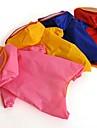 Кошка Собака Дождевик Одежда для собак Водонепроницаемый Сплошной цвет Цвет отправляется в случайном порядке