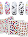 4 Patterns/Sheet Cute Flower Nail Art Water Decals Transfer Sticker BORN PRETTY