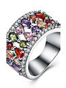Кольцо Цирконий Циркон Медь Титановая сталь Имитация Алмазный Свисающие Серебряный Бижутерия Повседневные 1шт