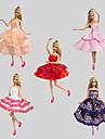 Fete / Soiree Robes Pour Poupee Barbie Robes Pour Fille de Jouets DIY