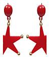 Женский Серьги-гвоздики Массивные украшения Мода Акрил Сплав В форме звезды Бижутерия Назначение Свадьба Halloween Повседневные