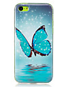 Pour Phosphorescent / IMD Coque Coque Arriere Coque Papillon Flexible TPU pour AppleiPhone 7 Plus / iPhone 7 / iPhone 6s Plus/6 Plus /