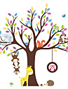 Wall Stickers Wall Decals Style Cartoon Owl Animal Paradise Tree PVC Wall Stickers