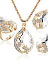 Бижутерия 1 ожерелье 1 пара сережек Кристалл Для вечеринок Повседневные 1 комплект Женский Белый Свадебные подарки