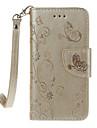 Para iPhone 8 iPhone 8 Plus Case Tampa Carteira Porta-Cartao Com Suporte Flip Estampada Com Relevo Corpo Inteiro Capinha Borboleta Rigida