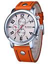 Мужской Спортивные часы Армейские часы Нарядные часы Модные часы Календарь Защита от влаги Кварцевый Натуральная кожа ГруппаПовседневная
