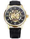 Men\'s Women\'s Unisex Sport Watch Fashion Watch Wrist watch Mechanical Watch Mechanical manual-winding Genuine Leather BandVintage Casual
