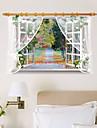 Мода Цветы Пейзаж Наклейки Простые наклейки 3D наклейки Декоративные наклейки на стены,Бумага материал Украшение дома Наклейка на стену