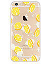 Pour Ultrafine Motif Coque Coque Arriere Coque Fruit Flexible PUT pour Apple iPhone 7 Plus iPhone 7 iPhone 6s Plus/6 Plus iPhone 6s/6