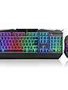 Mouse de Escritorio USB 1600 Teclado de Gaming teclado ergonomico teclado escritorio USB backlight multi cor Motospeed