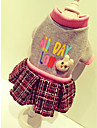 개 코트 맨투맨 스웻티셔츠 드레스 강아지 의류 귀여운 캐쥬얼/데일리 스포츠 브리티쉬 베이지 그레이