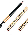 1 Pcs New Leopard Women Eyebrow Waterproof Black Brown Pencil With Brush Make Up Eyeliner