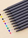 gel Στυλό Στυλό Στυλό Υδατογραφίας Στυλό,Πλαστικό Βαρέλι Κόκκινο Μαύρο Μπλε Κίτρινο Βυσσινί Πορτοκαλί Πράσινο μελάνι Χρώματα For Σχολικές