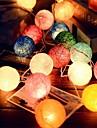 2.5m 20leds ротанг шар строка огни фея свадьба украшение партии горячее использование красочные феи света украшения сада