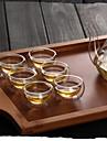 Прозрачный Классика Стаканы, 30 ml Теплоизолированные двустенных Стекло Чайный Чайные чашки